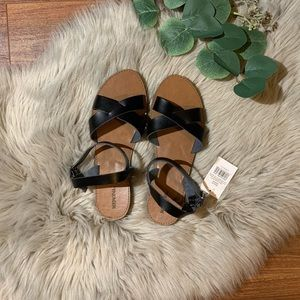 Faux Leather Strapped Sandals